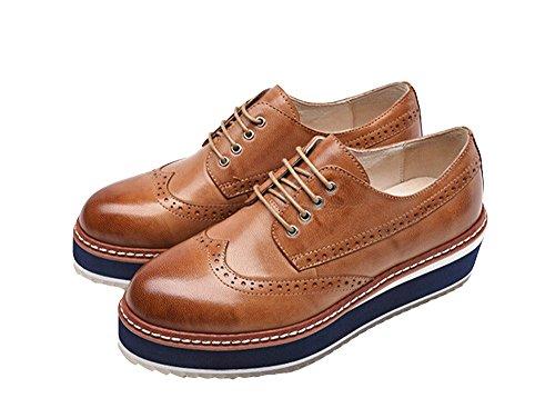 Dames Oxford Lederen Schoenen E255 A