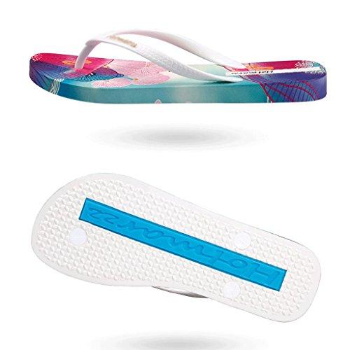 colore Calzature Spiaggia Da Fondo A Bianca Dimensioni Estivo Abbigliamento 35 Antiscivolo Casual Bianca Pantofole Piatto ICvYqIw