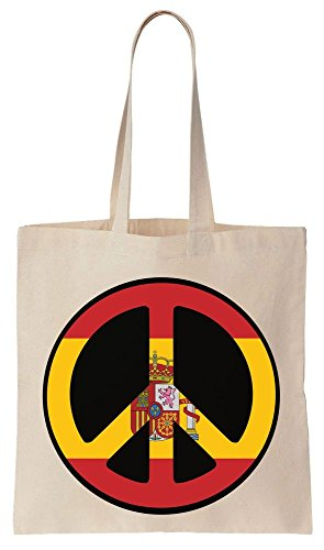 Algodón de de Spain Reutilizables Tote 2016 Sign Bolsos Peace Football Compras Bag RwRvx0Pg