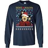 TeePowers Home Malone Funny Home Alone Movie Ugly Christmas Sweater Long Sleeve