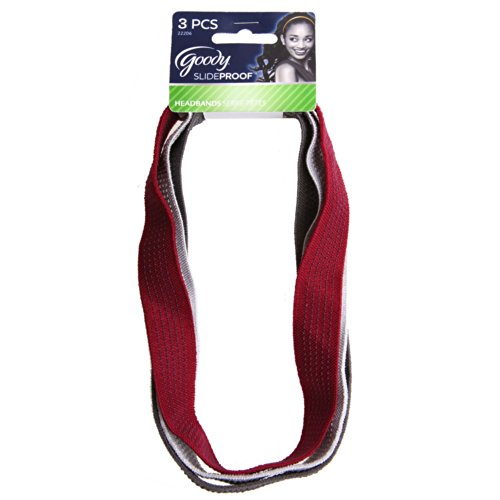 (Goody StayPut No Slide Headwraps, 3 Count (Pack of)