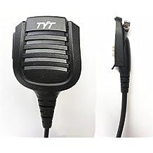 Original TYT Remote Hand/Shoulder Speaker Mic Microphone for Digital DMR Dual Band Radio TYT MD-2017 MD-398 IP67 Waterproof Two Way Radio, for Retevis RT82 VETOMILE V-2017