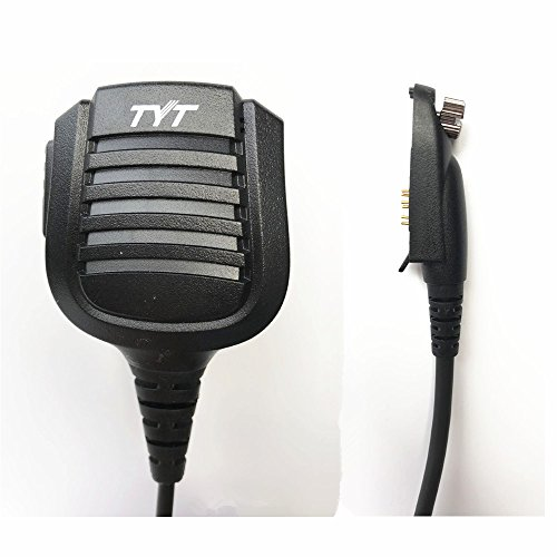 Original TYT Remote Hand/Shoulder Speaker Mic Microphone for Digital DMR Dual Band Radio TYT MD-2017 MD-398 IP67 Waterproof Two Way Radio, for Retevis RT82 VETOMILE V-2017 by radtel