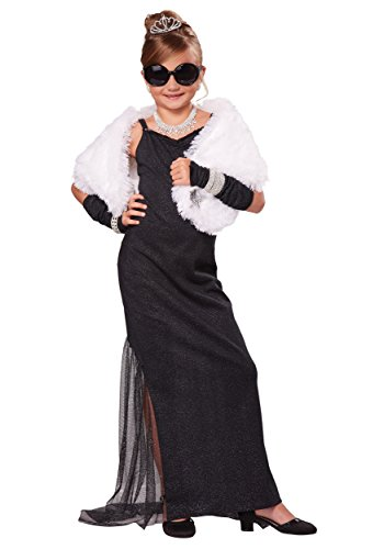 Halloween Costume Breakfast At Tiffany's (California Costumes Hollywood Diva Costume, One Color, 6-8)