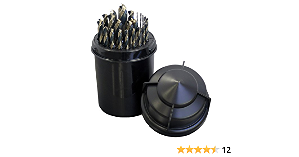 7.80 mm Drill Diameter Pack of 6 High Speed Steel Steam Oxide Finish Straight Shank Cle-Line C22876 General Purpose Jobber Length Drill 118-Degree Radial Point
