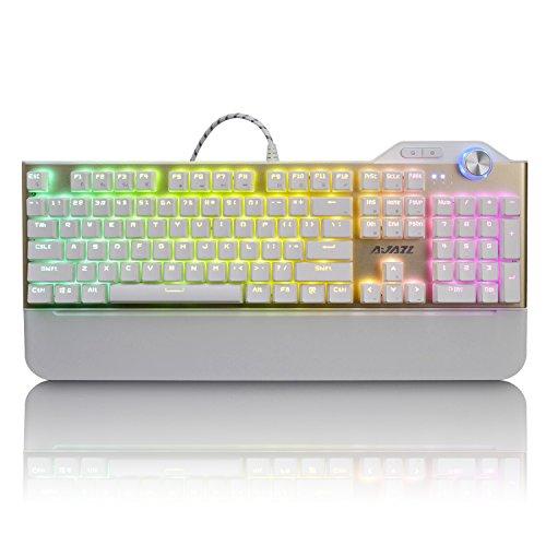 412uoNRCzwL - Ajazz ASSASSIN RGB Mechanical Gaming Keyboard, AK35 107 Keys Magnet Palm Rest Multimedia Keys