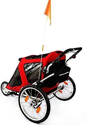 Remolque de bicicleta para niños Asiento plegable doble remolque ...