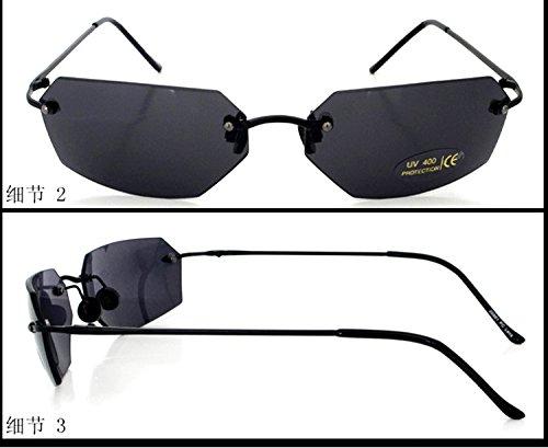 4ad0124c3b Amazon.com  Matrix Square Sunglasses men Ultralight Rimless (Black ...