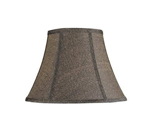 Aspen Creative 30093 Transitional Bell Shape Spider Construction Lamp Shade in Black, 13