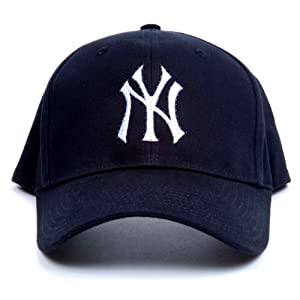 amazon com mlb new york yankees led light up logo adjustable hat sports fan novelty headwear