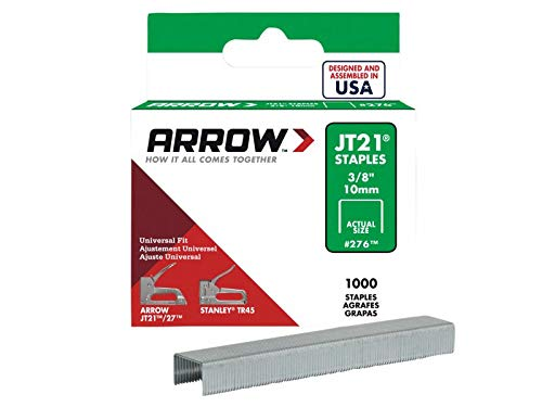 Arrow Staples For Jt21 T27 Box 1000 10Mm 3/8In