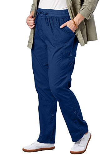 Woman Within Plus Size Petite Convertible Length Cargo Pant