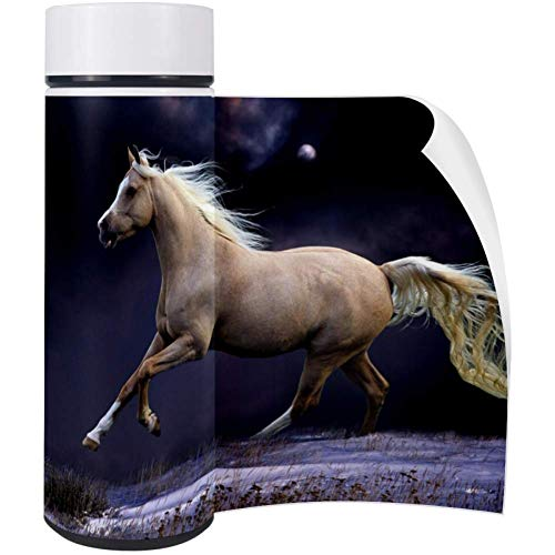 - Running Horse Water Bottle Stainless Steel Office School Thermos 350 ML