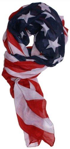 Dabung Women's Patriotic American Flag Scarf
