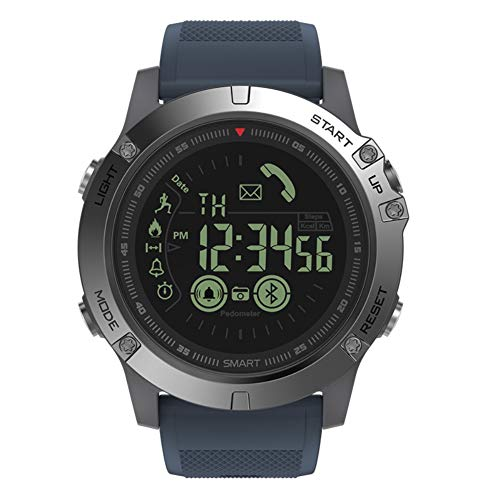 XABegin Multifunctions Rugged Military Sports Smart T1 Tact Watches Outdoor Watch Work with Apple Android Phone