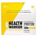 Health Warrior, Inc., Superfood Protein Bar, Lemon Goldenberry, 12 Bars, 50 g Each(Pack of 3)