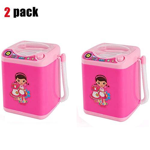 2 Pack Makeup Brush Cleaner Device Automatic Cleaning Washing Machine Mini Toy Mini Washing Machine Shape