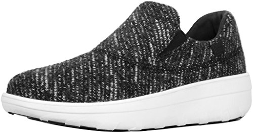 Zapatillas Fitflop Mujeres Loaff Sporty Slip-on Negra / Urban White