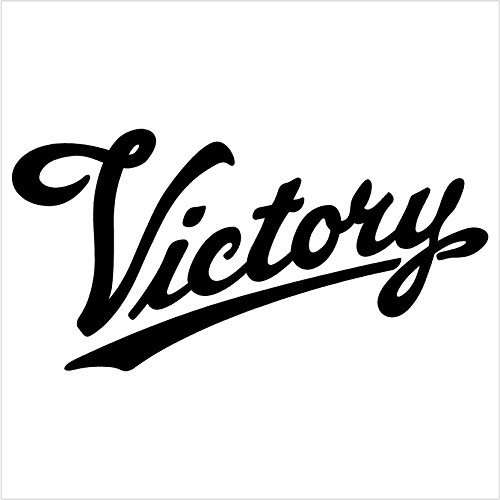 VICTORY MOTORCYCLE Black Decal Car Truck Window Sticker