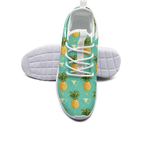 Shoes Mesh Pineapple Women Running Background 9 size Geometric HxTpI
