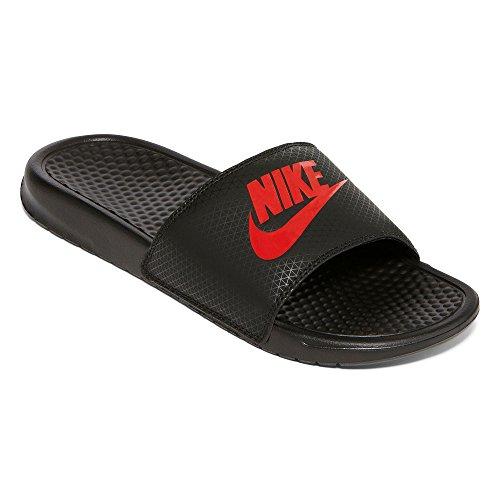 Nike Mens Benassi JDI Slide Sandal Black/Challenge Red 11