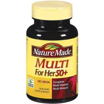 (В упаковке 3) природа сделала Мульти For Her 50+ Multiple витаминов и полезных ископаемых, 30 таблеток