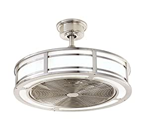 Brette 23 In Led Indoor Outdoor Brushed Nickel Ceiling