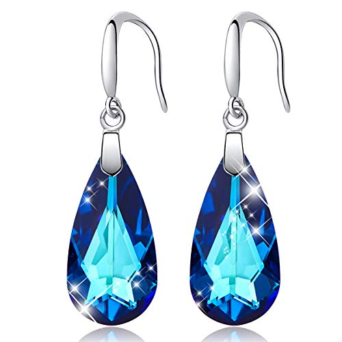 (CDE 925 Sterling Silver Women Drop Earrings Embellished with Crystals from Swarovski Dangle Earring Fashion Jewelry for Women)