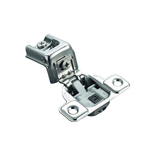 Salice Silvertone Finish Metal 106-degree 1-1/4-inch Overlay Soft Close Screw-on Face Frame Hinge (Pack of 10) by Salice