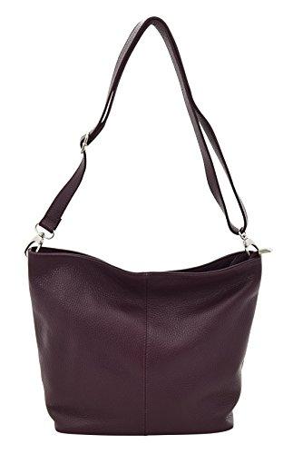 TOSCA Schoulder Italy Made Handbag Bag in Genuine Leather Hobos Bordeaux g5qrTOg