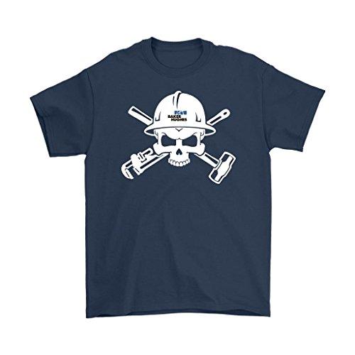 Oilfield Shirts Baker Hughes Logo Skull In Helmet Mens T Shirt  Navy  3Xl