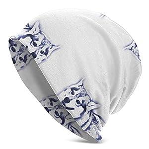 SGHGSAxbh Keanu The Alaskan Klee Kai Fabric (8787) Warm & Soft Hat Pullover Cap Unisex Fashion Adult Men's Knit Hat Pullover Hat 36