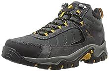 Columbia Men's Granite Ridge MID Waterproof Hiking Shoe, Dark Grey, Golden Yellow, 10 D US
