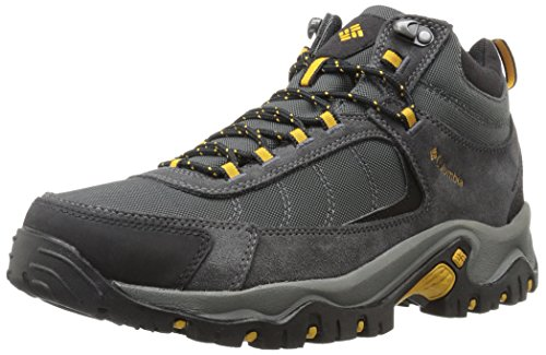 Columbia Men's GRANITE RIDGE MID WATERPROOF Hiking Shoe, Dark Grey, Golden Yellow, 11.5 D US (Best Low Cut Hiking Shoes)
