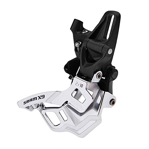 SRAM X9 Bicycle Front Derailleur with 3 x 10 High Direct Mount Bottom Pull (Renewed)
