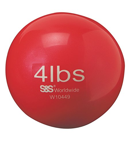 S&S Worldwide No-Bounce Medicine Balls-4LB, 5.3