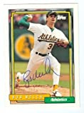 Bob Welch autographed baseball card (Oakland Athletics) 1992 Topps #285 Ball Point Pen