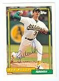 Autograph 121251 Oakland Athletics 1992 Topps No. 285 Ball Point Pen Bob Welch Autographed Baseball Card