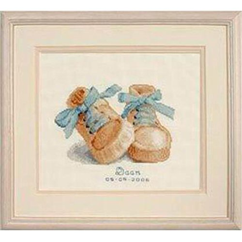 Birth Sampler Friends (Kuwoolf Baby Boots Birth Sampler 14CT Counted DIY Cross Stitch Kits for Embroidery Cartoon Boy Gift Home Decor Needlework)