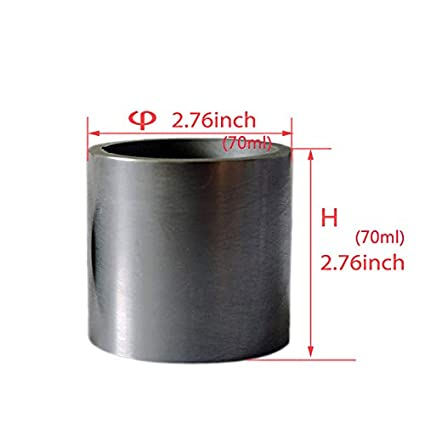 60X60MM Gold Silver Copper Smelting Graphite Crucible Cup with Lid Lab Supply