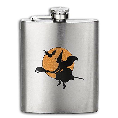 JNJ Team Halloween Witch Portable 304 Stainless Steel Hip Flask Leak Proof Liquor Pocket Flagon 8OZ Bottle - Bag Debenhams Sale