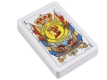 Maestros Naiperos- baraja, española, 50, Cartas, encefalonada, Calidad Popular, Color Azul y Rojo (130003065)