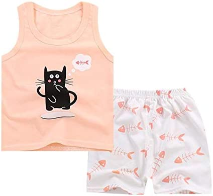 XM-Amigo 8 Pack of Girls Or Baby Girls Sleeveless T-Shirt Vest Tops Shorts Pants Outfits Clothes Sets,Age 6 Months-5 Years