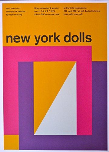 New York Dolls - Television - Concert Gig Poster - 10