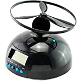 Denshine Flying Helicopter Novelty Alarm Clock UFO Propeller Fly LCD Digital Alarm Clock Most Effective for Heavy Sleepers Wake-Up Artifact Best Gift for College Students & Workers