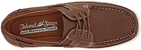 メンズスリッポン・ボートシューズ・靴 Mitch Boat Shoe Dark Tan Simulated Oiled Leather (26.5cm) M (D) [並行輸入品]