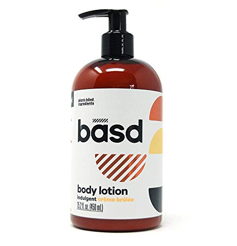 Basd | Organic Body Lotion for Dry Skin | Indulgent Crème Brulee | Natural Skin Care | Aloe Vera | Shea Butter | 15.2 oz Bottle