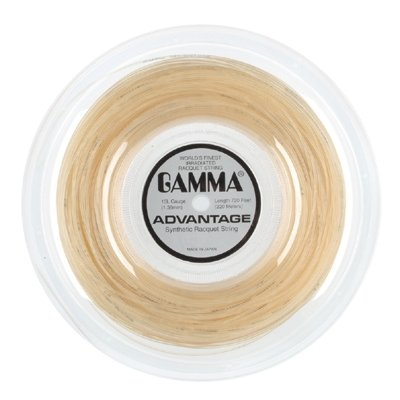 Gamma Advantage Tennis String – 720ft Reel (Black – 15L Gauge)