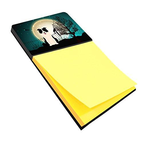 Caroline's Treasures Halloween Scary Border Collie Black White Sticky Note Holder, Multicolor (BB2308SN)