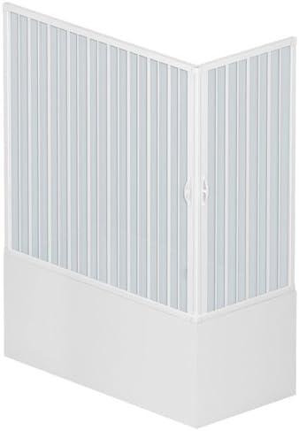 Rollplast BGAL1CONCC28160 Double paroi de douche angulaire en accord/éon PVC Blanc 70 x 160 x 150 cm de haut